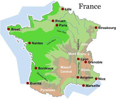 karta frankrike lyon Franska steg 1   Notre planéte karta frankrike lyon